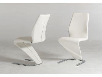 Penn - Modern White Leatherette Dining Chair (Set of 2)