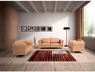 Estro Salotti Jenny Modern Terra Italian Leather Sofa Set