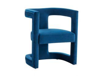 Modrest Kendra - Modern Blue Fabric Accent Chair