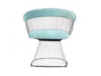 Modrest Lauren - Teal Velvet and Brushed Silver Dining Chair