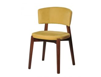 Modrest Legacy - Modern Yellow Fabric Dining Chair (Set of 2)
