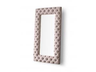 Modrest Legend - Transitional Grey Velvet Floor Mirror