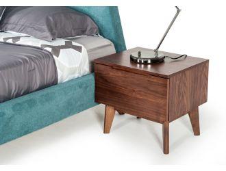 Modrest Lewis Mid-Century Modern Walnut Nightstand