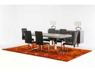 Modrest Lola Modern Grey Brush Dining Table