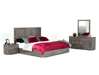 Modrest Luca Italian Modern Grey Bedroom Set