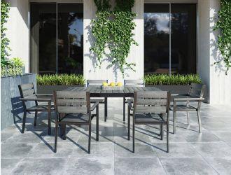 Renava Marina - Grey Outdoor Dining Table Set