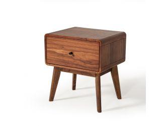 Modrest Marshall Mid-Century Modern Walnut Nightstand