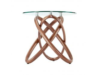 Modrest Mason - Modern Class + Walnut Side Table