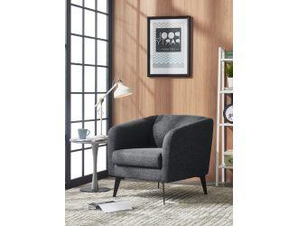 Divani Casa Bannack Modern Dark Grey Fabric Lounge Chair