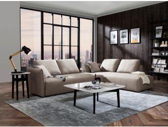 Divani Casa - Polson Modern Light Grey Fabric Modular  Sectional Sofa Bed