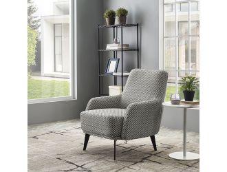 Divani Casa Corydon Modern Herringbone Fabric Accent Chair