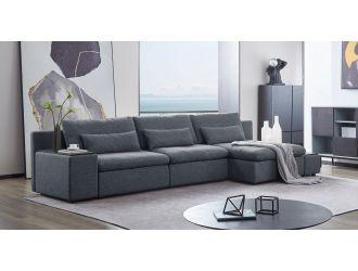 Divani Casa Paseo - Modern Grey Modular Sectional Sofa