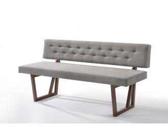 Modrest Jordan Modern Grey & Walnut Dining Bench