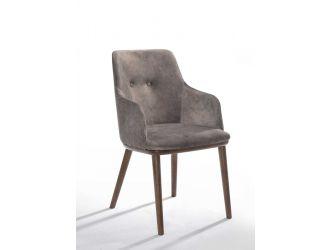 Modrest Theresa Modern Grey & Walnut Dining Chair (Set of 2)
