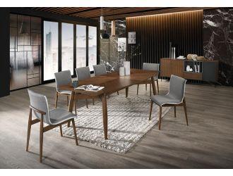 Modrest Ackley - Modern Walnut Rectangular Dining Table