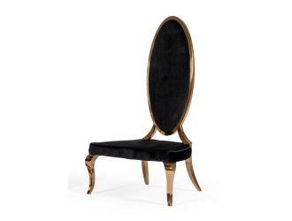 Modrest Mills - Modern Black Velvet Rosegold Dining Chair Set of 2