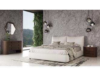 Modrest Patrick - Modern White Leather Bed