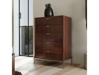 Modrest Shane - Modern Acacia & Brass Dresser