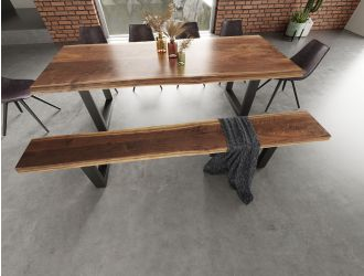 Modrest Taylor - X-Large Modern Live Edge Dining Bench