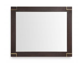 Modrest Moontide - Modern Smoked Ash & Gold Mirror
