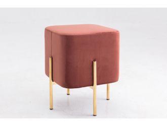 Modrest Ranger Modern Copper Fabric Square Ottoman