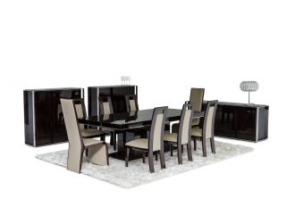 Noble Modern Ebony Lacquer Dining Table