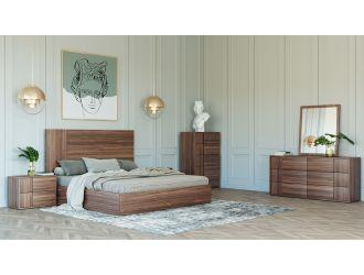 Nova Domus Asus - Italian Modern Walnut Bedroom Set