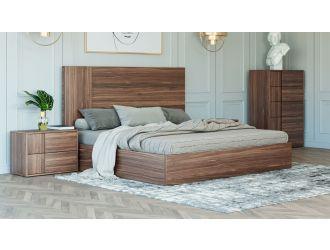Nova Domus Asus - Italian Modern Walnut Bed