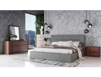 Nova Domus Juliana - Italian Modern Grey Upholstered Bed