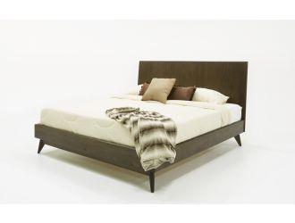 Modrest Novak Modern Dark Oak Bed
