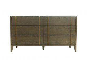 Modrest Oakley - Mid-Century Dark Brown Dresser