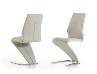 Penn - Modern Light Grey Leatherette Dining Chair (Set of 2)