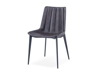 Modrest Peoria - Modern Brown & Black Dining Chair (Set of 2)