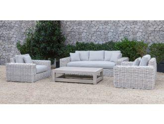 Renava Portugal - Outdoor Grey Wicker Sofa Set