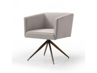 Modrest Riaglow - Contemporary Dark Grey Fabric Dining Chair