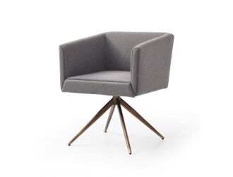 Modrest Riaglow - Contemporary Light Grey Fabric Dining Chair