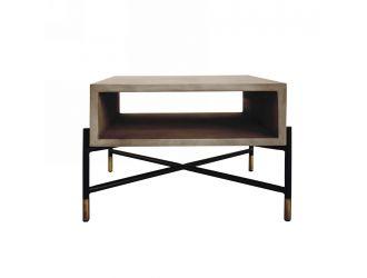 Modrest Walker Modern Concrete & Metal End Table