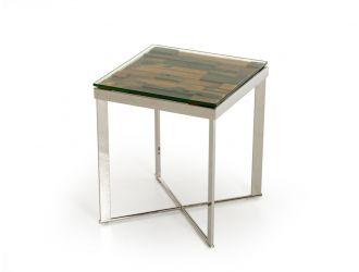 Modrest Santiago Modern Rectangular Wood Mosaic End Table