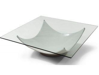 Modrest Sunset Modern White Coffee Table