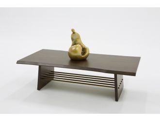 Modrest Selena Modern Acacia & Brass Coffee Table