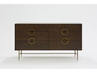 Modrest Selena Modern Acacia & Brass Dresser