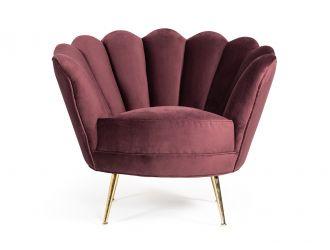 Divani Casa Selva Modern Rust Velvet Accent Chair