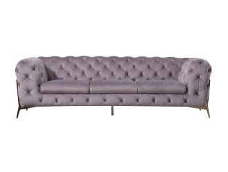 Divani Casa Sheila - Transitional Silver Fabric Sofa