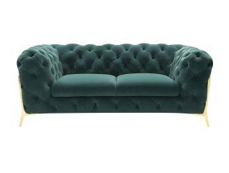 Divani Casa Sheila - Transitional Emerald Green Fabric Loveseat