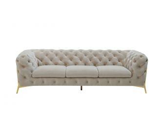 Divani Casa Sheila - Transitional Beige Fabric Sofa