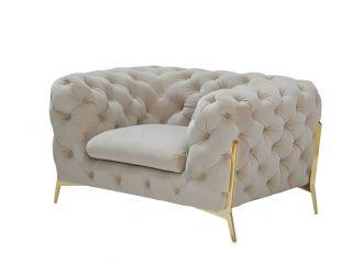 Divani Casa Sheila - Transitional Beige Fabric Chair
