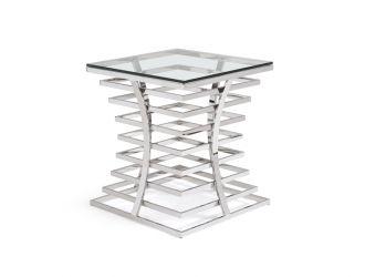 Modrest Snyder Modern Square Glass End Table