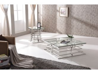 Modrest Snyder Modern Square Glass Coffee Table