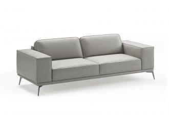 Coronelli Collezioni Soho - Contemporary Italian Light Grey Leather Sofa