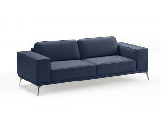 Coronelli Collezioni Soho - Italian Maya Blue Leather Sofa